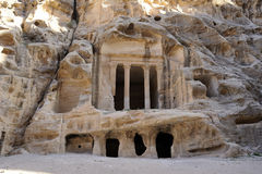 Temple in little Petra. Jordan Stock Photography