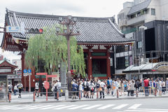 Temple located in Asakusa It is one of Tokyo Stock Photo
