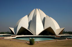 Temple of lotus. The temple of lotus in Indian town Delhi royalty free stock photography