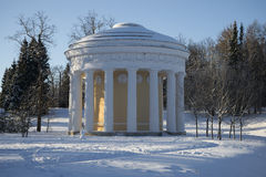 The temple of Love and Friendship winter day. Pavlovsk. Russia royalty free stock image