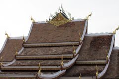 Temple @ Luang Prabang/ Laos. Laos temple with brown roof Royalty Free Stock Image