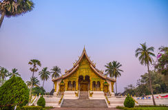 Temple in Luang Prabang Royal Palace Museum at twilight time, La Royalty Free Stock Image