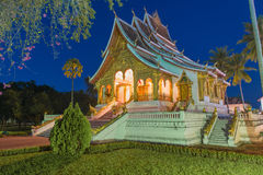 Temple in Luang Prabang Royal Palace Museum at twilight time, La Royalty Free Stock Images