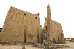 Temple of Luxor. Is Amon god in the vido when a sacrifice in the palace of the Nile Royalty Free Stock Image