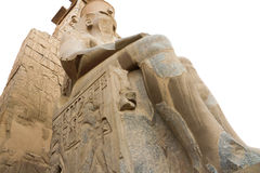 Temple of Luxor. Is Amon god in the vido when a sacrifice in the palace of the Nile Stock Photos