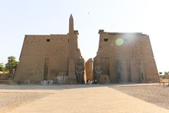 Temple of Luxor - Egypt. Day view of Luxor Temple Luxor, Egypt stock image