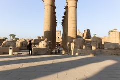 Temple of Luxor - Egypt. Day view of Luxor Temple Luxor, Egypt stock photos