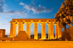 Temple of Luxor, Egypt at Night Royalty Free Stock Images