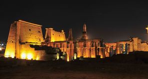 Temple of Luxor, Egypt at Night Stock Photo