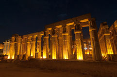 Temple of Luxor, Egypt at Night Stock Images