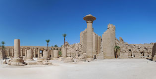 Temple luxor egypt panorama Royalty Free Stock Image