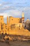 Temple of Luxor, Egypt at Sunset Royalty Free Stock Photography