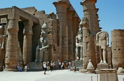 Temple of luxor Stock Images