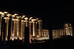 Temple of Luxor at night Stock Images