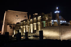 Temple of Luxor at night Royalty Free Stock Image
