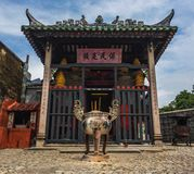 Temple in Macau. Monastery Hong Kong worship Royalty Free Stock Photo