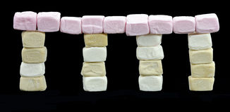 Temple made of marshmallows Royalty Free Stock Photos