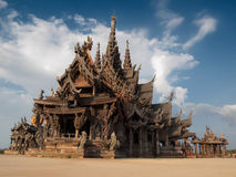 Temple made of wood Royalty Free Stock Photo