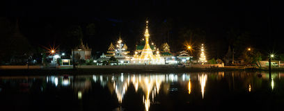 Temple in  Mae Hon Song, Thailand Royalty Free Stock Photos