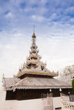 Temple in  Mae Hon Song, Thailand Stock Photo