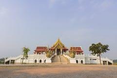 Temple at Maha chulalongkorn rajavidlayala University. Lumsri, Ayutthaya Stock Image