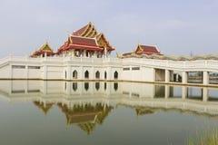 Temple at Maha chulalongkorn rajavidlayala University. Lumsri, Ayutthaya Stock Images