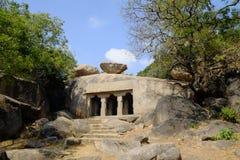 Temple Mahabalipuram. Rock-cut monuments in Mahabalipuram, Tamil Nadu Stock Photos