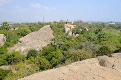 Temple Mahabalipuram. Rock-cut monuments in Mahabalipuram, Tamil Nadu Royalty Free Stock Images