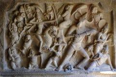 Temple Mahabalipuram. Rock-cut monuments in Mahabalipuram, Tamil Nadu Royalty Free Stock Photo