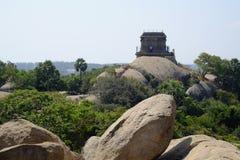 Temple Mahabalipuram. Rock-cut monuments in Mahabalipuram, Tamil Nadu Stock Photography