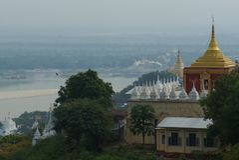 Temple of Mandalay in Burma, Asia royalty free stock photos