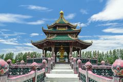 The temple on marsh Royalty Free Stock Image