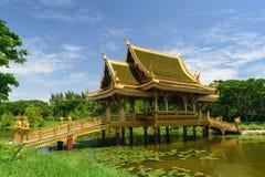 The temple on marsh Stock Photo