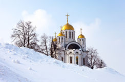 Temple of the Martyr St. George in Samara, Russia. Stock Photos
