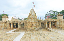Temple in massive Chittorgarh Fort and grounds rajasthan india Stock Photography