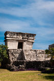 Temple from Mayan ruins in Tulum Mexico Yucatan. One of the well preserved Mayan sites in Tulum, Mexico on Yucatan Peninsula. Part of the precolumbian Maya Stock Images