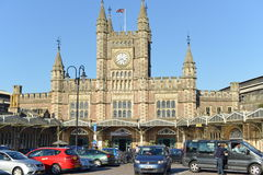 Temple Meads Railway Station in Bristol England Royalty Free Stock Images