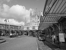Temple Meads station in Bristol in black and white Stock Photography