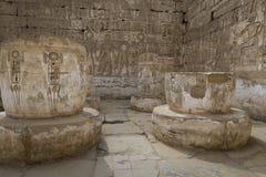Temple of Medinet Habu, dedicated to Rameses III. - UNESCO World Royalty Free Stock Photos