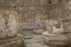 Temple of Medinet Habu, dedicated to Rameses III. - UNESCO World Royalty Free Stock Image