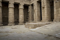 Temple of Medinet Habu, dedicated to Rameses III. - UNESCO World Stock Image
