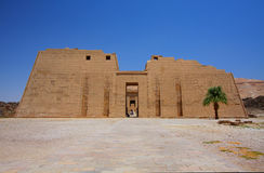 The temple of Medinet Habu in Egypt Royalty Free Stock Images