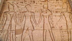 Temple of Medinet Habu. Egypt, Luxor. The Mortuary Temple of Ramesses III at Medinet Habu is an important New Kingdom period. Structure in the West Bank of royalty free stock photos