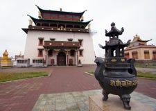 Temple Megdzhid-Dzhanrayseg in Ulaanbaatar Stock Images