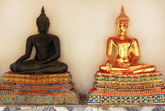 Temple menteur de Wat Pho Bouddha à Bangkok, Thaïlande - détails images libres de droits