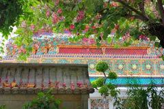 Temple menteur de Wat Pho Bouddha à Bangkok, Thaïlande - détails image stock