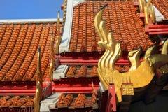 Temple menteur de Wat Pho Bouddha à Bangkok, Thaïlande - détails photographie stock libre de droits