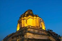 Temple merveilleux de Wat Chedi Luang de pagoda Image stock