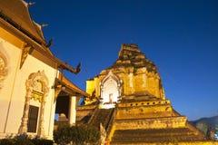 Temple merveilleux de Wat Chedi Luang de pagoda Images libres de droits