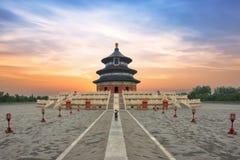 Temple merveilleux et stupéfiant de Pékin - le temple du Ciel dans Beiji photographie stock libre de droits